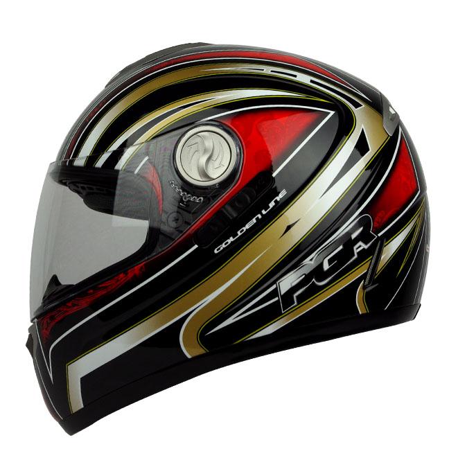 Black Red Dual Visor DOT APPROVED Motorcycle Full Face Helmet