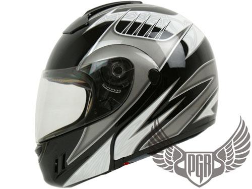 Black Rider Flip Up Full Face Modular Motorcycle Helmet Harley DOT