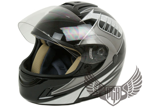 Black Rider Flip Up Full Face Modular Motorcycle Helmet Harley DOT