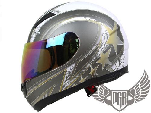 Black Gold 5 Stars Full Face Street DOT APPROVED Motorcycle Helmet ~ M