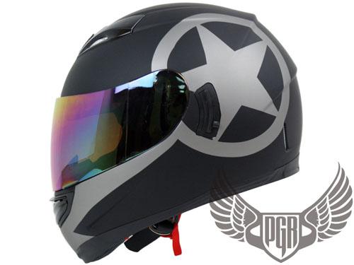 Dual Visor Full Face Motorcycle Helmet Matte Black ~ M