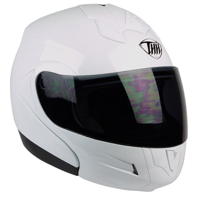 THH-T-796-Touring-White-Full-Face-Modular-DOT-APPROVED-Motorcycle-Flip-Up-Helmet