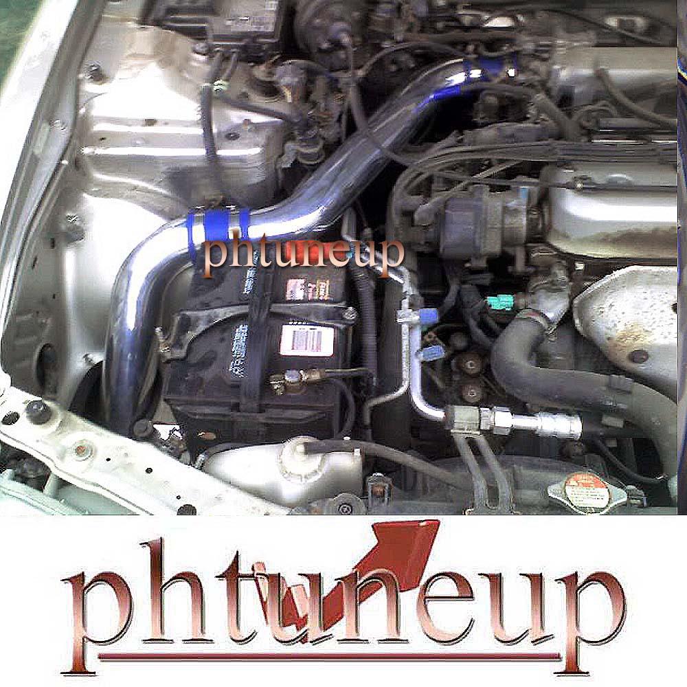 blue   honda accord     cold air intake kit systems