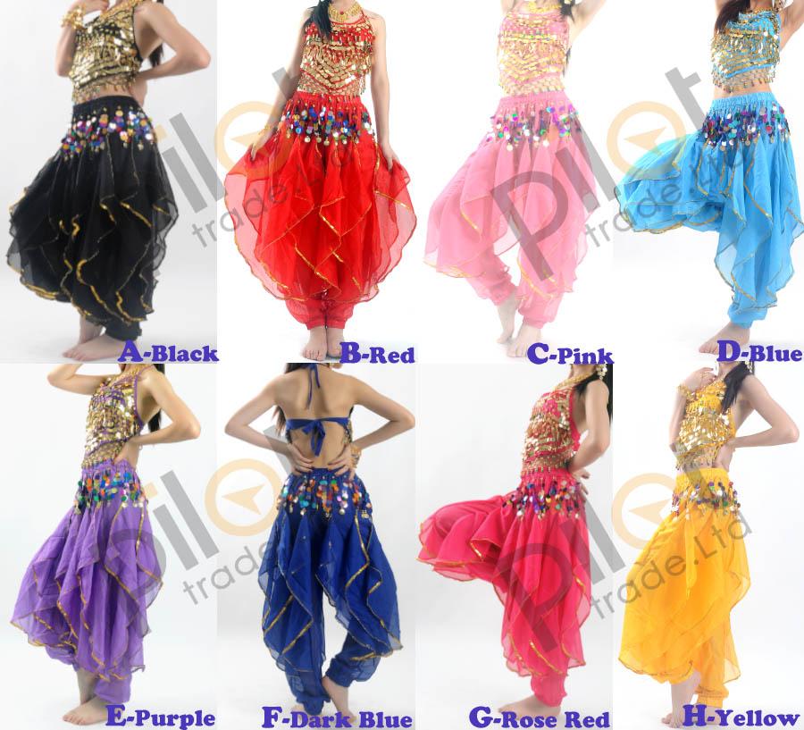 belly dance costume danse orientale haut pantalon ensemble danse du ventre ebay. Black Bedroom Furniture Sets. Home Design Ideas