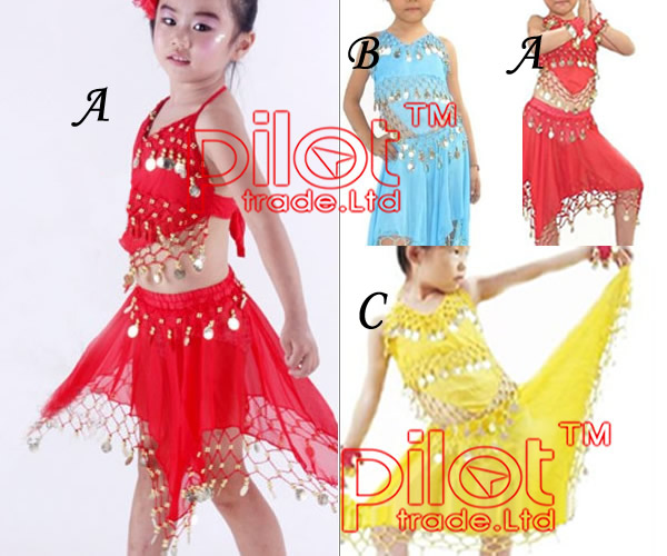 3-colors-chose-hand-made-Belly-Skirts-Dancing-Wear-Dress-for-KID-Children-Girl