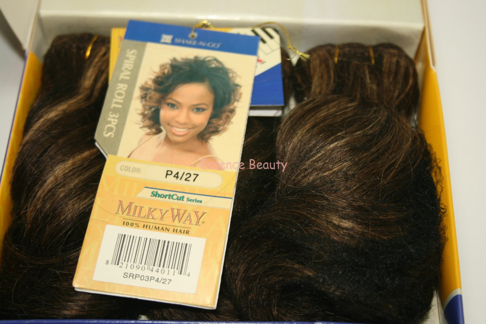 Shake N Go Que By Milky Way 100 Human Hair Spiral Roll Weave Ebay