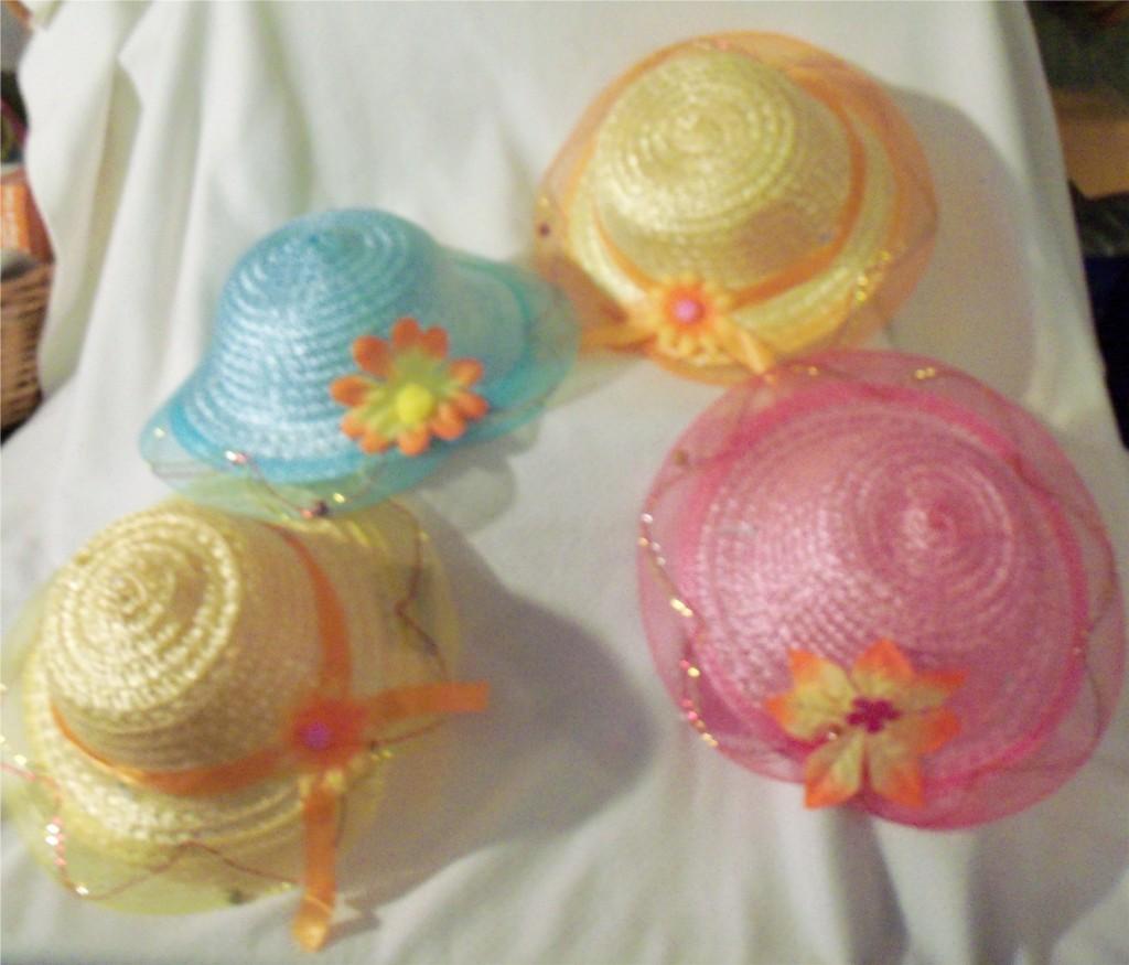 1 little girls tea party hat dress up ebay. Black Bedroom Furniture Sets. Home Design Ideas