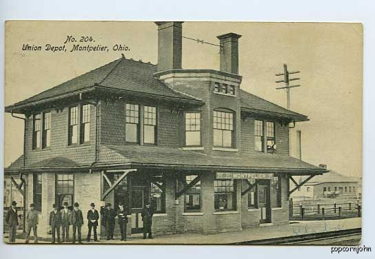 Montpelier (OH) United States  city photos gallery : Montpelier Oh Railroad Station Depot Train Postcard | eBay