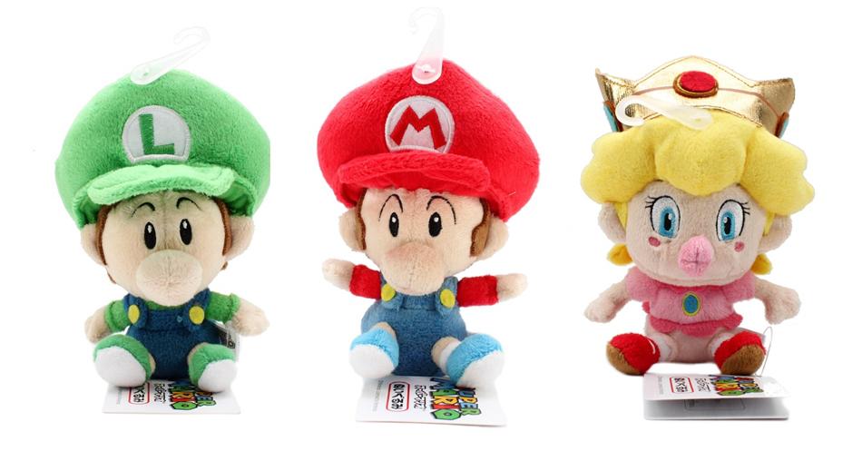 Super Mario Plush Doll SET OF 3 Baby Mario/ Baby Luigi/ Baby Peach