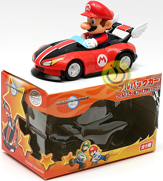 New nintendo mario kart wii mario pull back car ebay for Coupe miroir mario kart wii