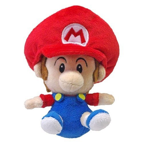 NEW 5 Sanei Super Mario Plush Series Plush Doll Baby Mario
