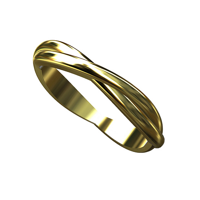 P&P Luxury Solid 14K Yellow Gold Double Twisted Wedding Band Ring at Sears.com