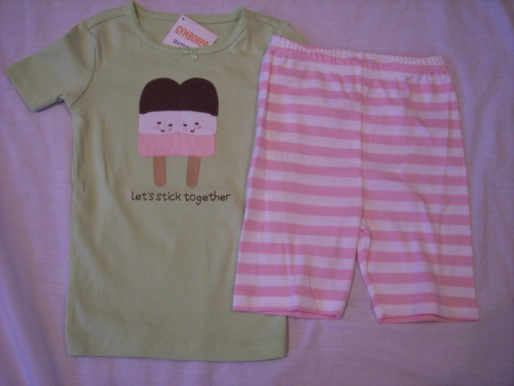 NWT-Girls-Gymboree-Popcycle-shirt-shorts-pajamas-gymmies-6-8