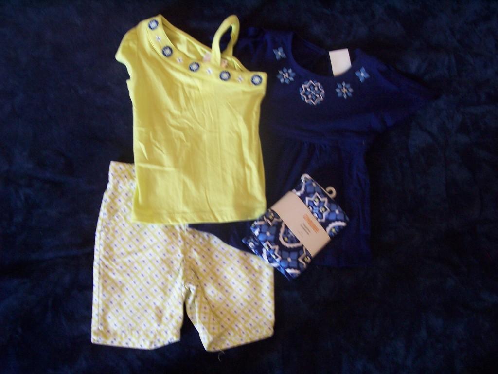 NWT Girls Gymboree Greek Isle Style short sleeve shirts shorts
