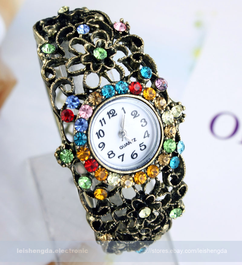 Fashion Luxury Womens Ladies Delicacy Crystal Bracelet Quartz Watches Gifts New