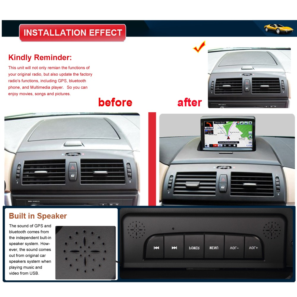 Auto Multimedia GPS Navigation Stereo For BMW X3 E83 2004
