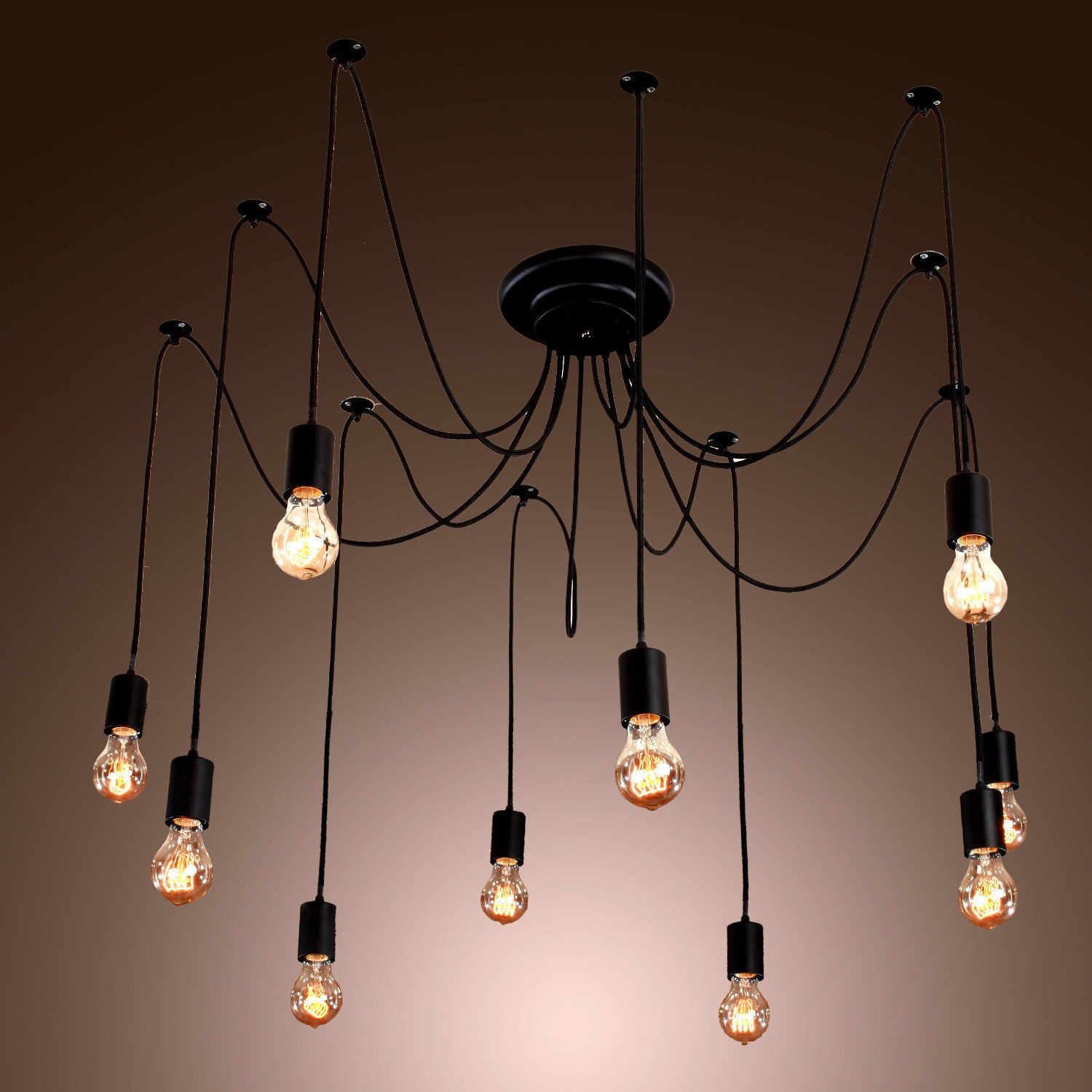 vintage edison industrial style diy chandelier retro pendant light ceiling lamps ebay. Black Bedroom Furniture Sets. Home Design Ideas