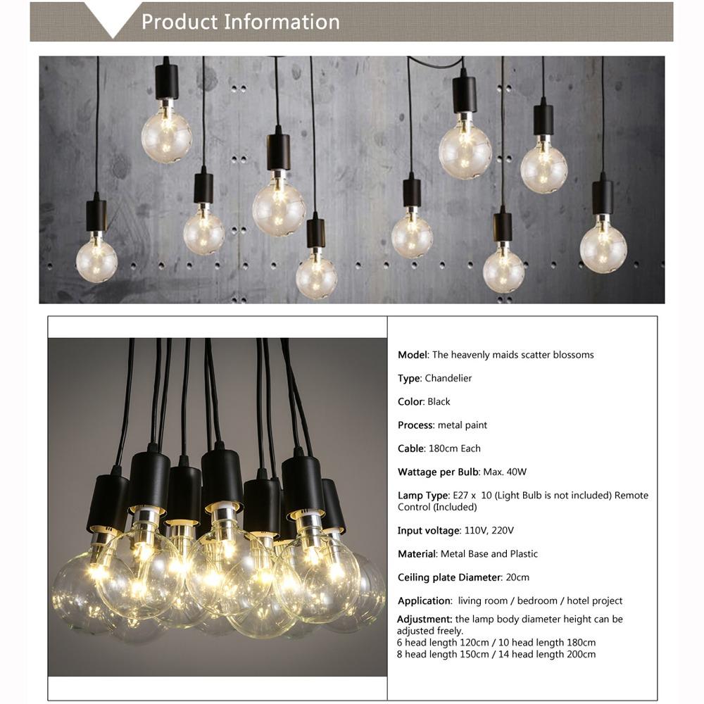 Edison industrial style vintage loft chandelier pendant - Diy industrial chandelier ...