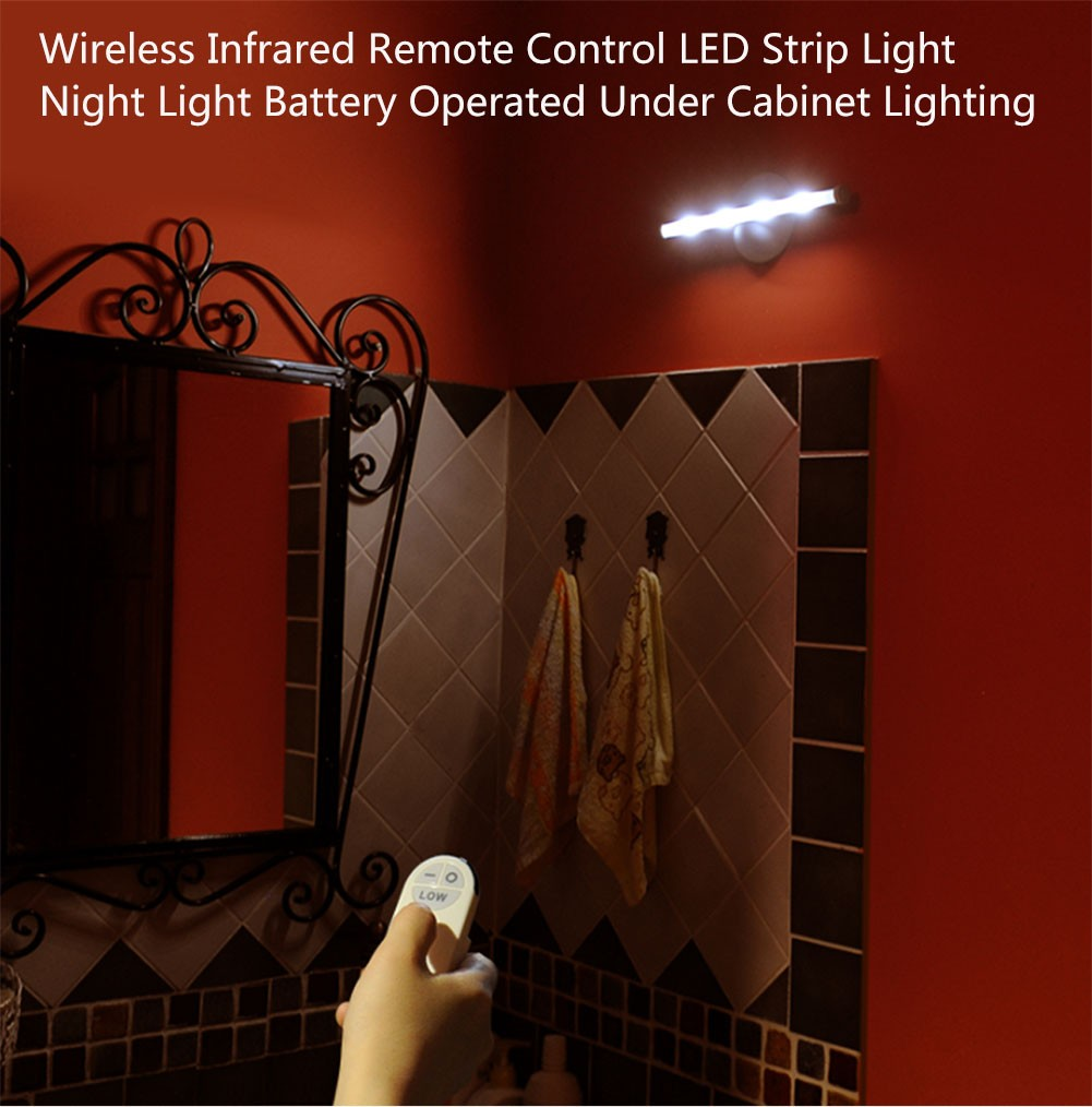 Wireless infrared remote control led cylinder strip night light battery operated ebay - Remote control night light ...