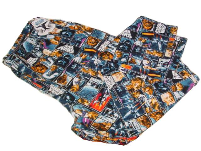 NEW STAR WARS COTTON PAJAMA LOUNGE PJ SLEEP PANTS MENS S (28&#034 ...