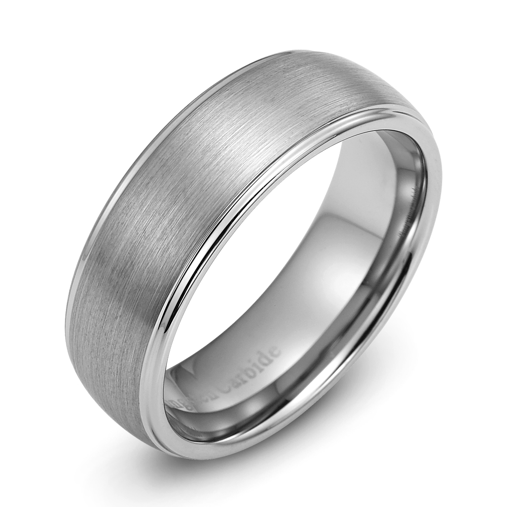 mens wedding ring new tungsten carbide band for man size 8. Black Bedroom Furniture Sets. Home Design Ideas