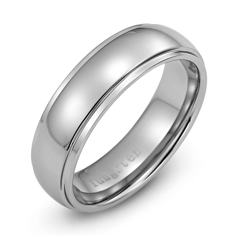 Mens Tungsten Wedding Ring: Men's New Wedding Band Tungsten Carbide Ring For Men Size