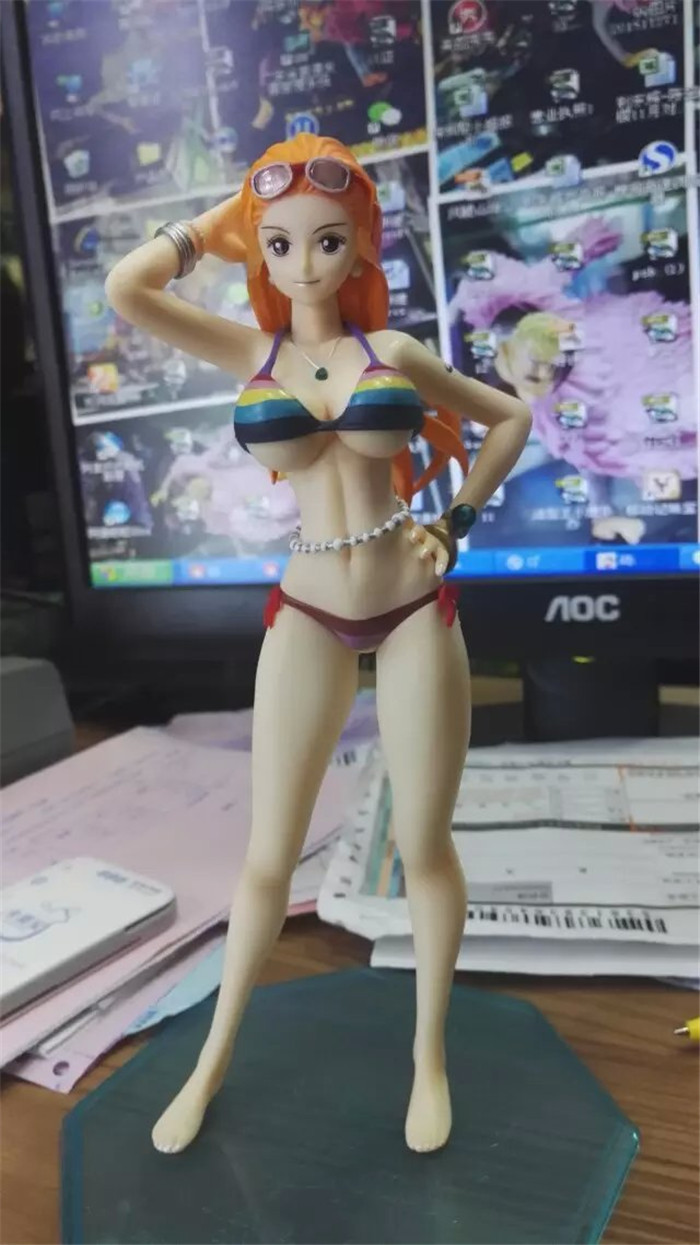 one piece pop the new world anime nami sexy bikini figur. Black Bedroom Furniture Sets. Home Design Ideas