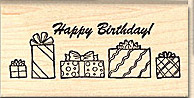 Birthday stamps, holiday stamps and seasonal stamps