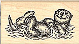 Otter stamps and other aquatic animals stamps