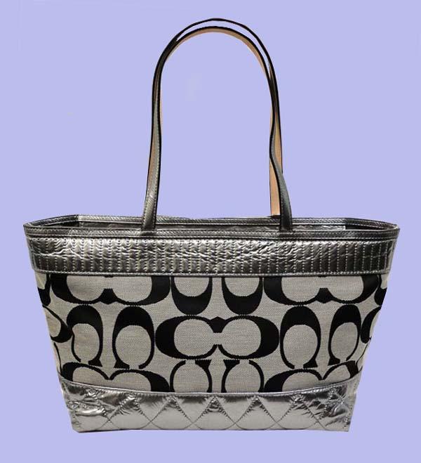 coach purses on sale outlet  coach black sv/white