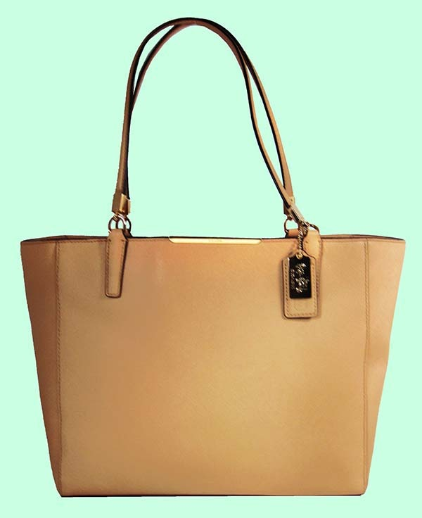 Leather Ring Handled Tote Bag