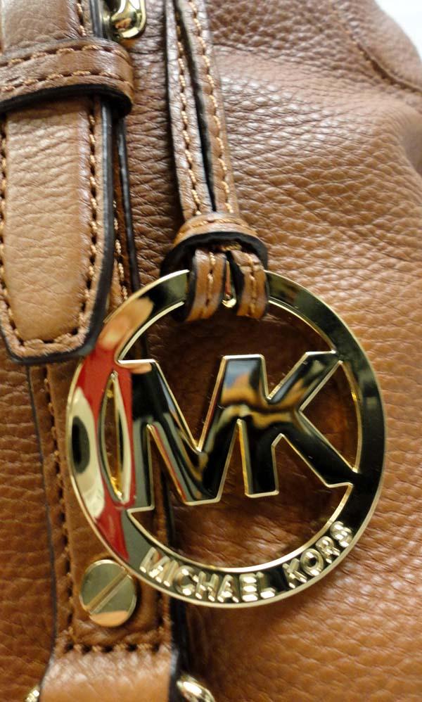 100% AUTHENTIC MICHAEL KORS BROWN MONOGRAM BEDFORD CANVAS & LEATHER