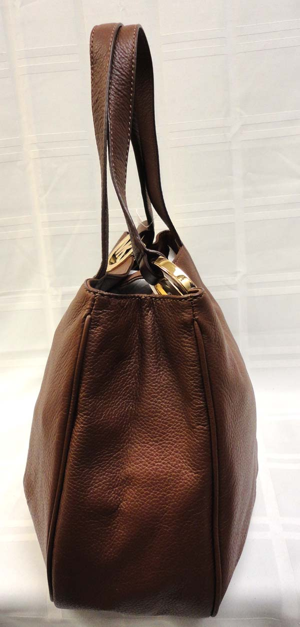 Authentic Michael Kors Brown Soft Leather Fulton Shoulder Bag MSRP $
