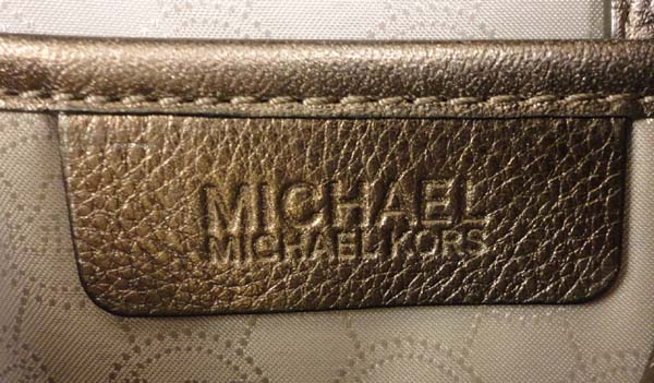 AUTHENTIC MICHAEL KORS BROWN LEATHER RING TOTE BAG  MSRP$268.00