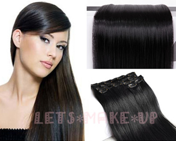 Fashion 50 Styles Full Head Clip In On Hair Extensions Sexy Human New Looking Ebay