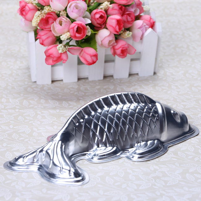 3 Sizes 3d Golden Carp Fish Cake Fondant Aluminum Mold