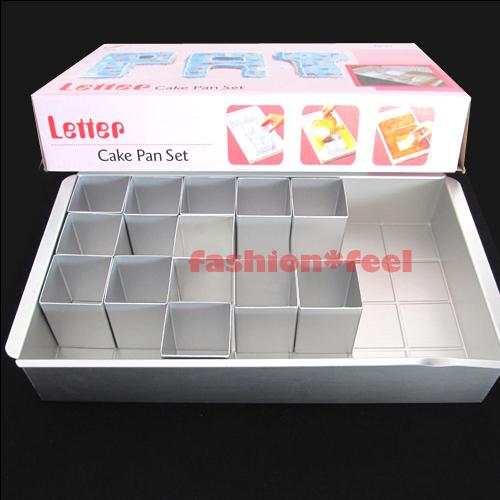 Alphabet letters numbers cake make baking tin pan for Alphabet blocks cake decoration