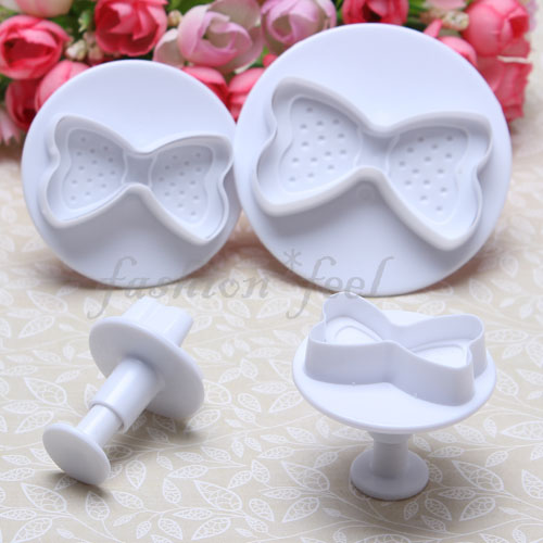 Cake Decorating Moulds Nz : 4pcs Bow Fondant Cake Decorating Plunger Cookie Cutter ...