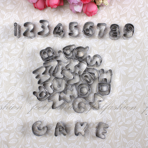 Letter Cutters For Cake Decorating : Set of Metal Alphabet & Number Letter Cake Decorating ...