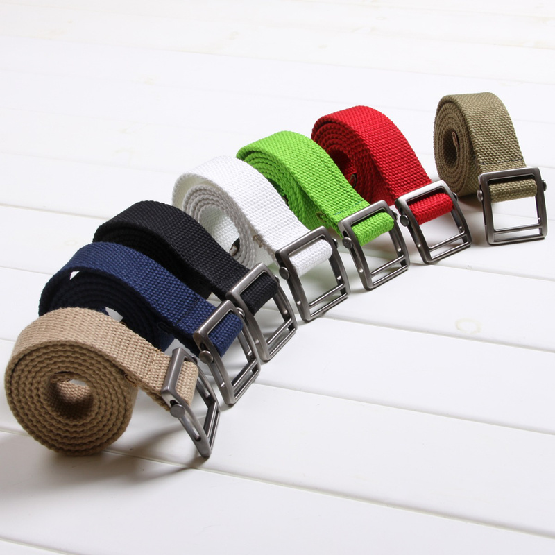 Free-shipping-7-Color-Mens-boys-move-buckle-Military-Thicker-canvas-belt