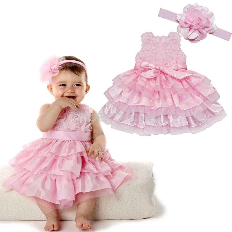 baby prinzessin festkleid blumenm dchen kleid taufkleid. Black Bedroom Furniture Sets. Home Design Ideas