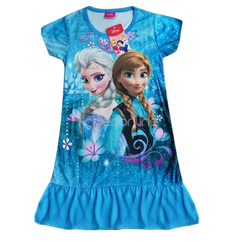 frozen eisk nigin anna elsa top kleid tunika shirt m dchen kost m cosplay 98 128 ebay. Black Bedroom Furniture Sets. Home Design Ideas