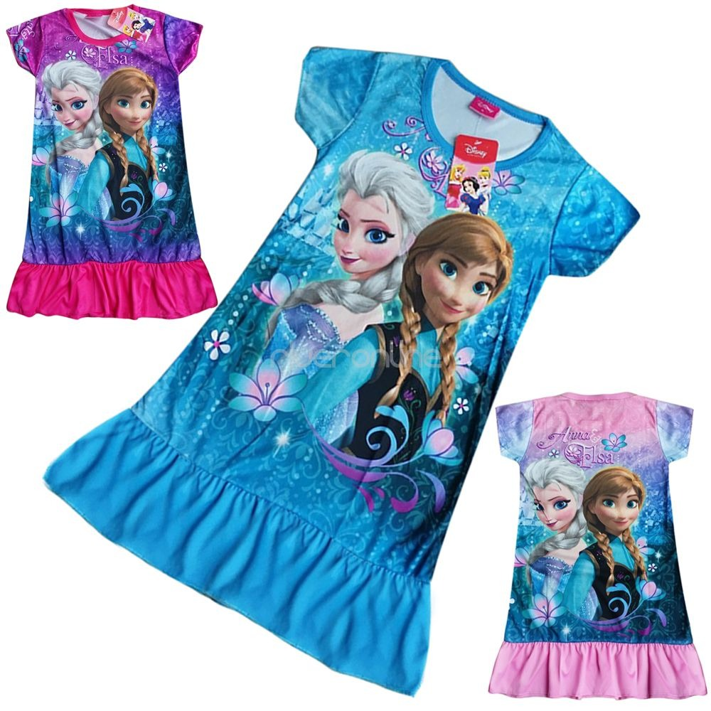 frozen eisk nigin elsa anna top tunika kleid m dchen kost m longshirt gr 98 128 ebay. Black Bedroom Furniture Sets. Home Design Ideas