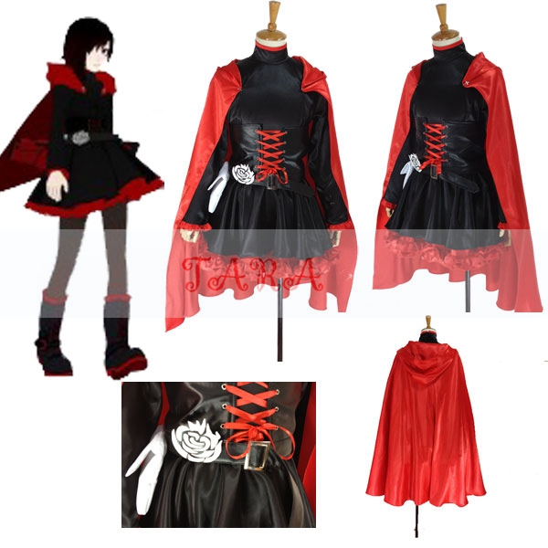 Details about RWBY Red Trailer Ruby Rose Cosplay Costume Any Size    Rwby Ruby Costume