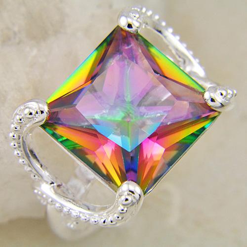 trendy jewelry rainbow colored topaz gemstone