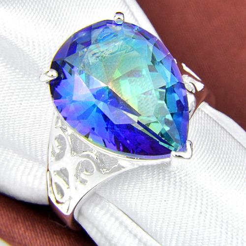new stylish charming jewelry rainbow colored topaz