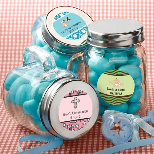 Personalized glass mason jars baby shower favors ebay