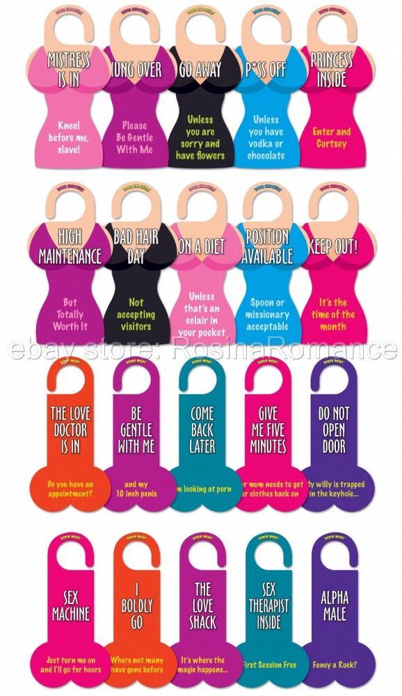 ... -Funny-Novelty-Door-Knobs-or-Knockers-Bedroom-Handle-Hangers-Signs
