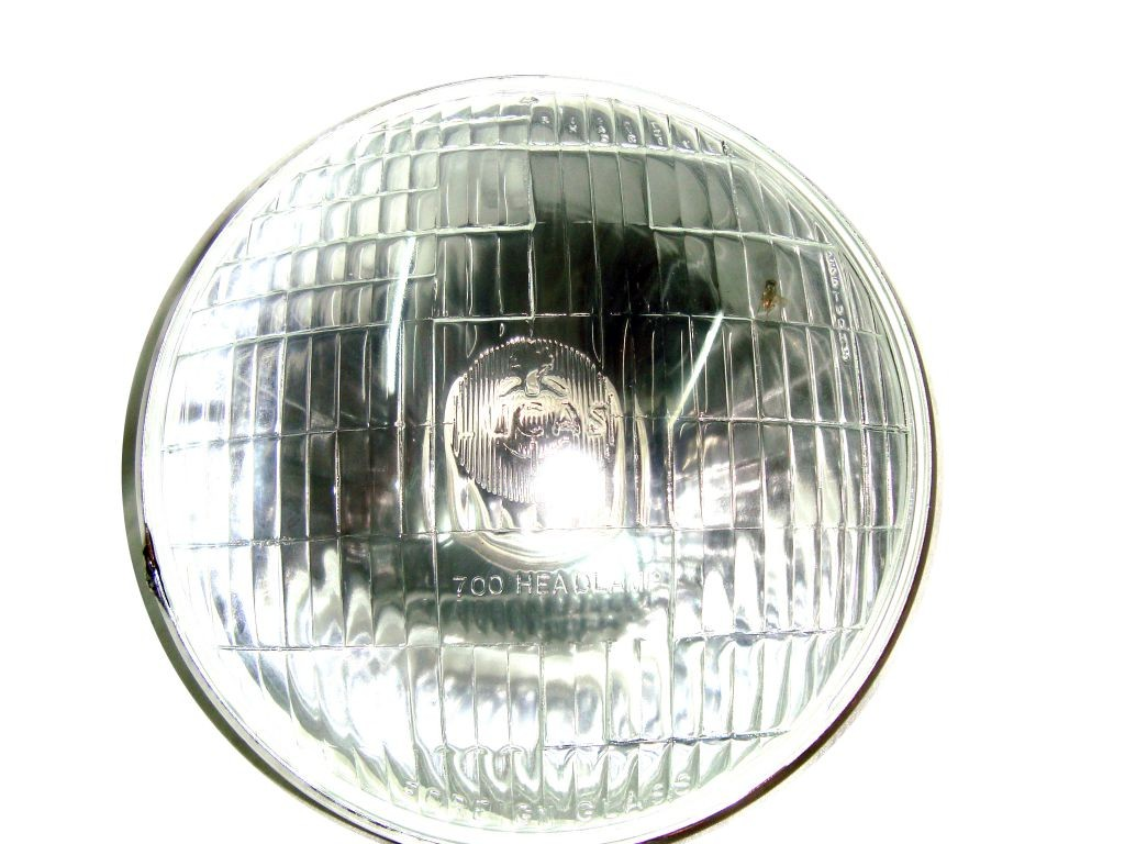 Details about lucas 7 quot head lamp unit sealed beam assembly for royal