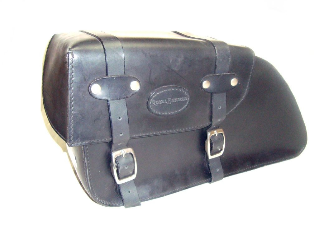 Pair Of Saddle Bags Custom Made Handcrafted In Leather For
